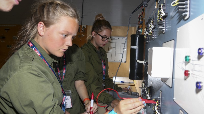 Girl Power On Display At RAF100 Science & Engineering Challenge (Credit: MoD)