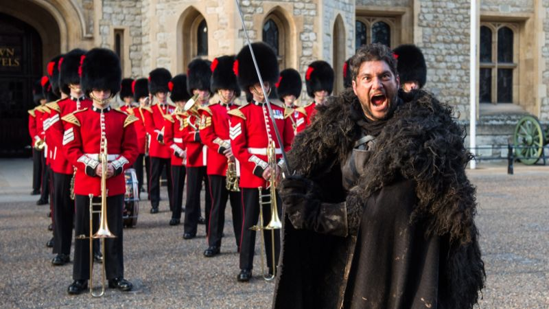 Game of Thrones 'Night's Watch' characters join Coldstream Guards for a public display (Picture: MOD).
