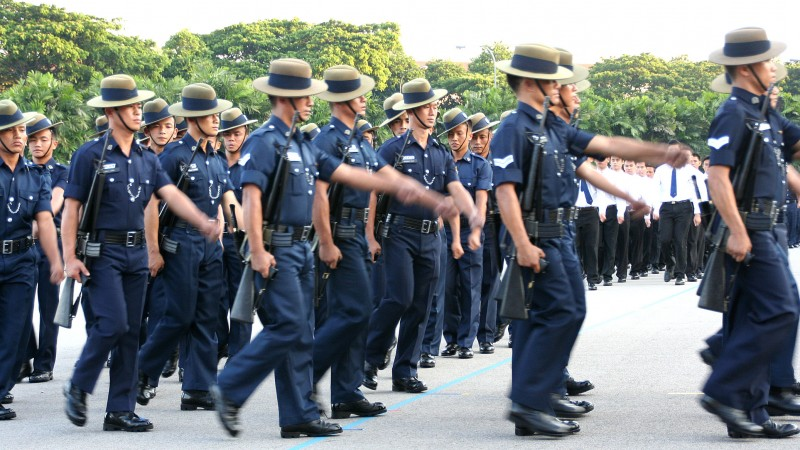 Gurkha Contingent - Police officers in Singapore CREDIT Wikipedia-Huaiwei