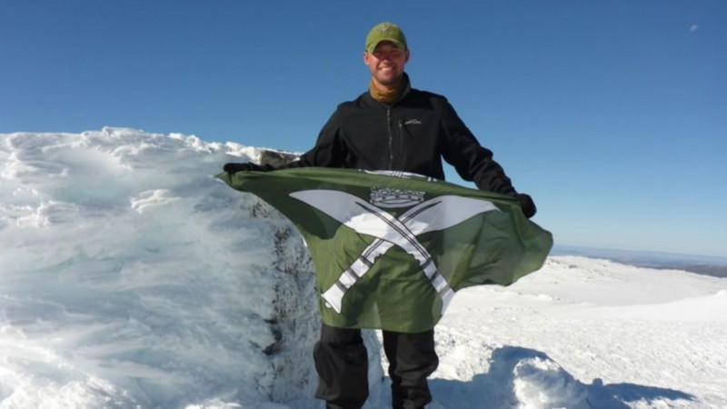Gurkha Lieutenant Scott Sears in Antarctica expedition - Credit: antarcticgurkha.com