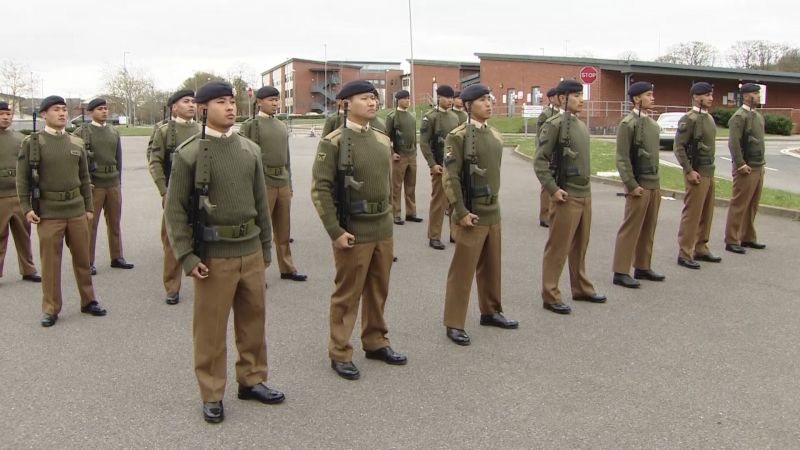 Gurkhas have been preparing for Queen's Guard.