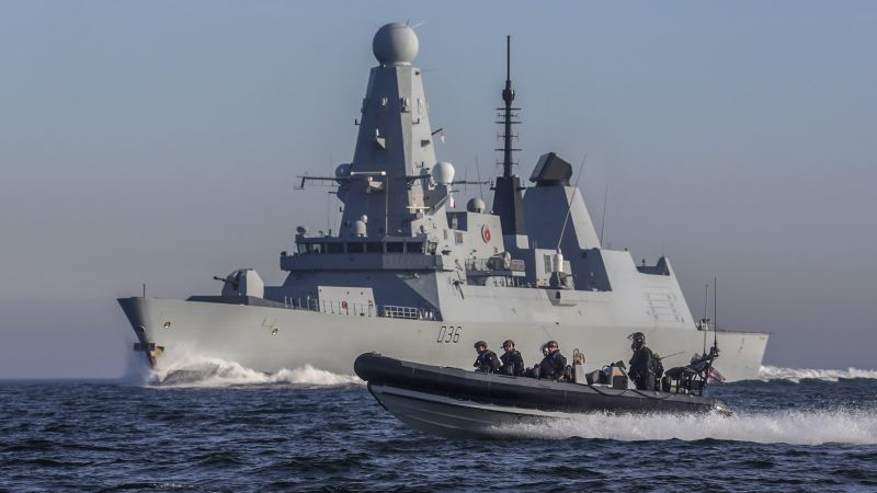 HMS Defender on anti drug operations in the Gulf 231219 CREDIT ROYAL NAVY