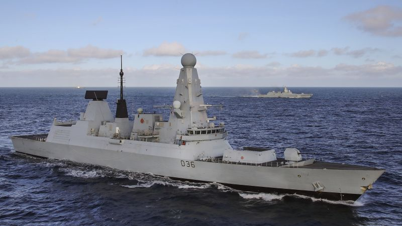 HMS Defender shadows Russian naval task group along UK coastline (Picture: Royal Navy).