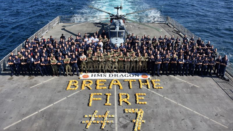 HMS Dragon makes seventh successful drugs bust in Middle East (Picture: Royal Navy).