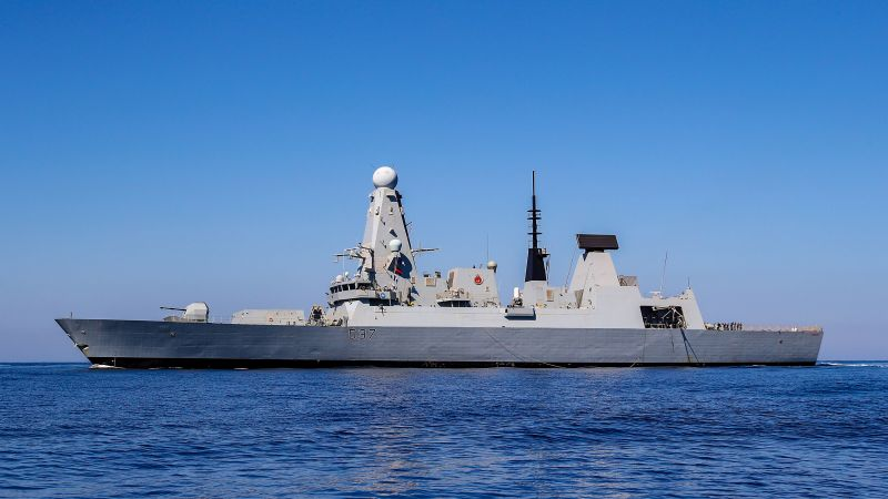 HMS Duncan arrives in the Gulf (Picture: MOD).