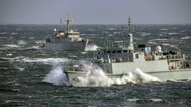 HMS Grimsby on NATO mission off Norway