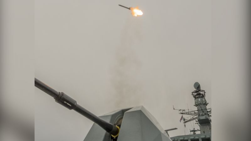 HMS Northumberland Sea Ceptor Missile ROYAL NAVY