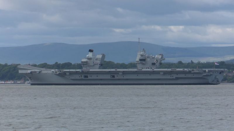 HMS Queen Elizabeth in Firth of Forth