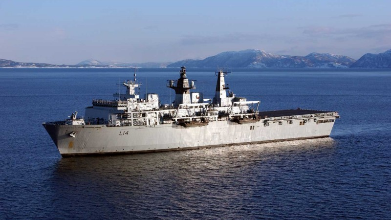 HMS Albion Gets Shipshape For A Return To Duty