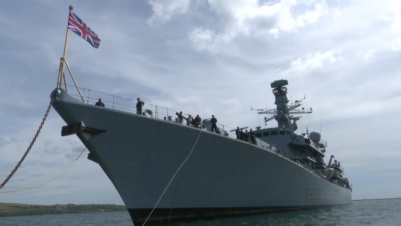 HmS Northumberland begins sea trials.