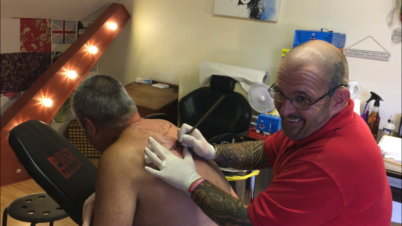 Bamboo Tattooing by Help for Heros Veteran