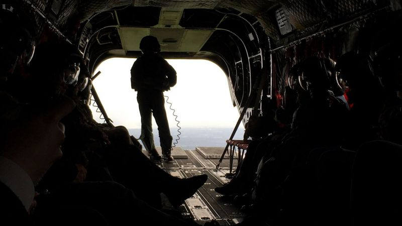 Inside a Chinook