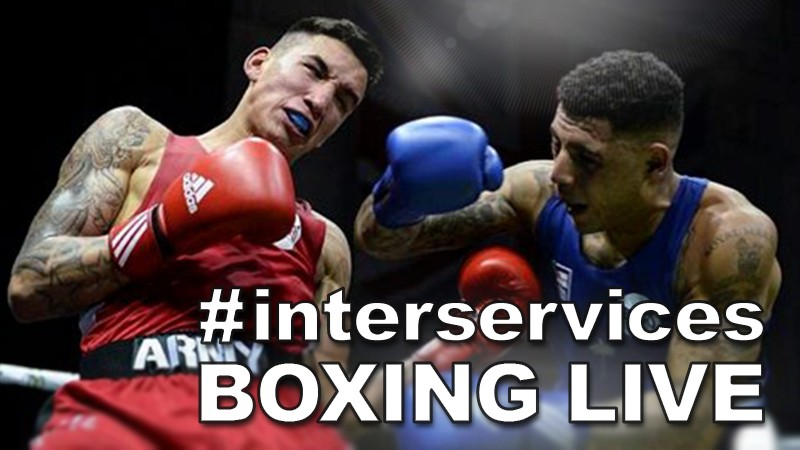 British military Inter-Services Boxing finals 2018