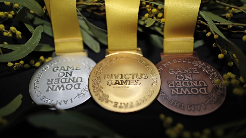 The wattle inspired medals for the Sydney Invictus Games (Invictus Games)