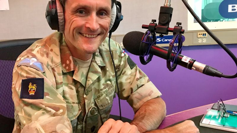 Lt General Ivan Jones In Forces Radio BFBS Canada Studio