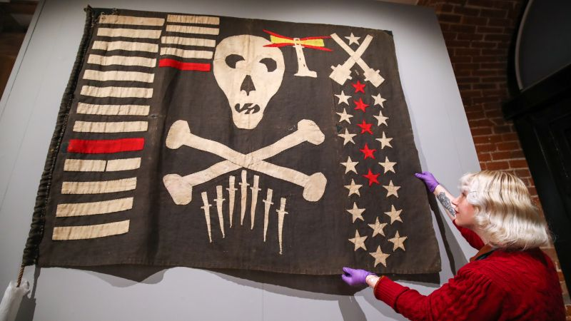 Jolly Roger once flown by HMS Safari