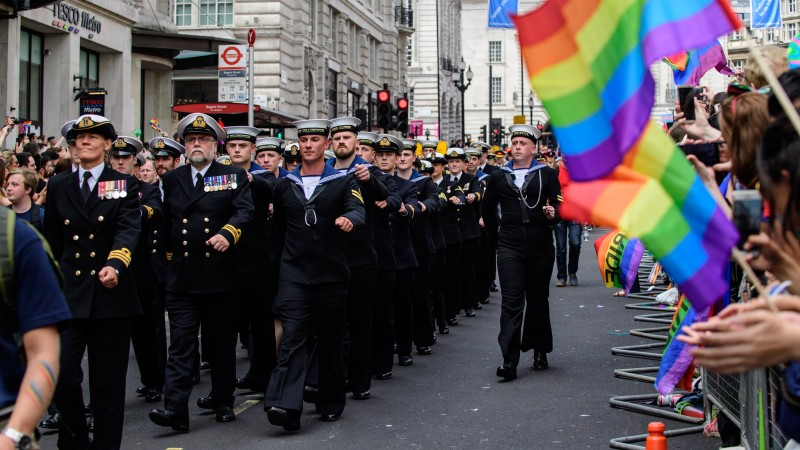 Sailors at the event last year (Picture: Royal Navy).