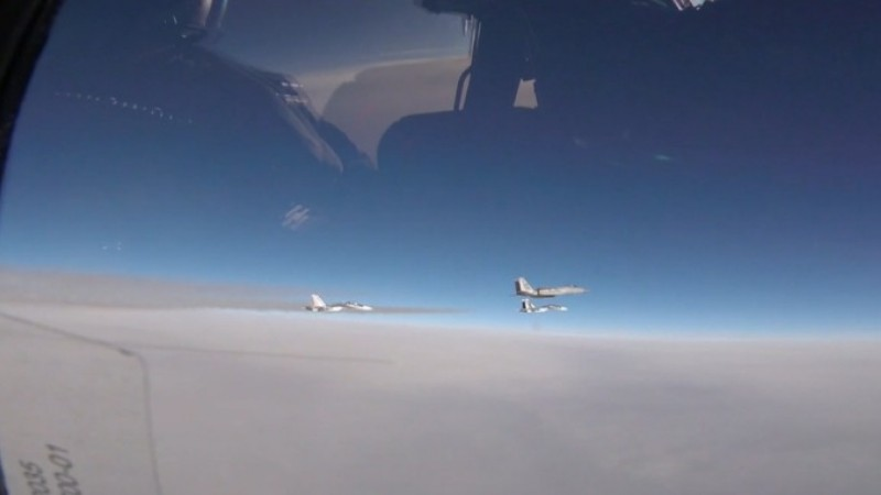 RAF Lakenheath pilots intercepting Russian planes over the Baltic.