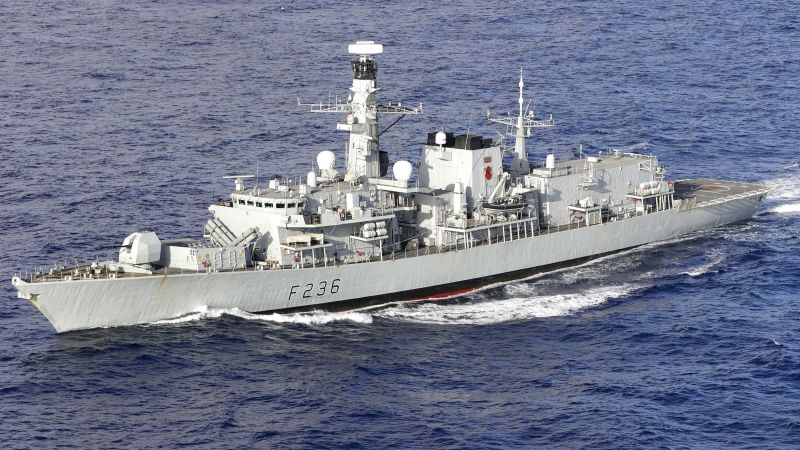 HMS Montrose at sea