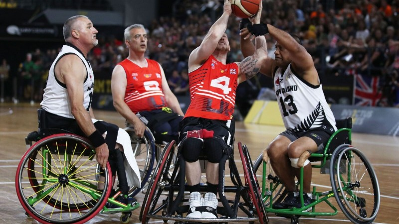 Team UK beat NZ in Bronze Medal Wheelchair Basketball at Invictus Games