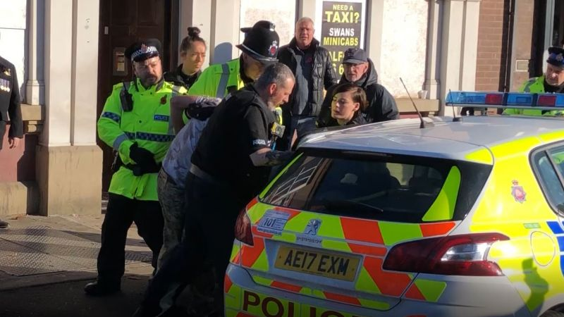 Man being arrested after Salford Remembrance sunday event