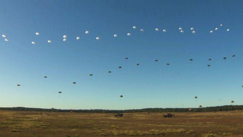 Mass Parachute Drop Marks Battle Of Arnhem Anniversary
