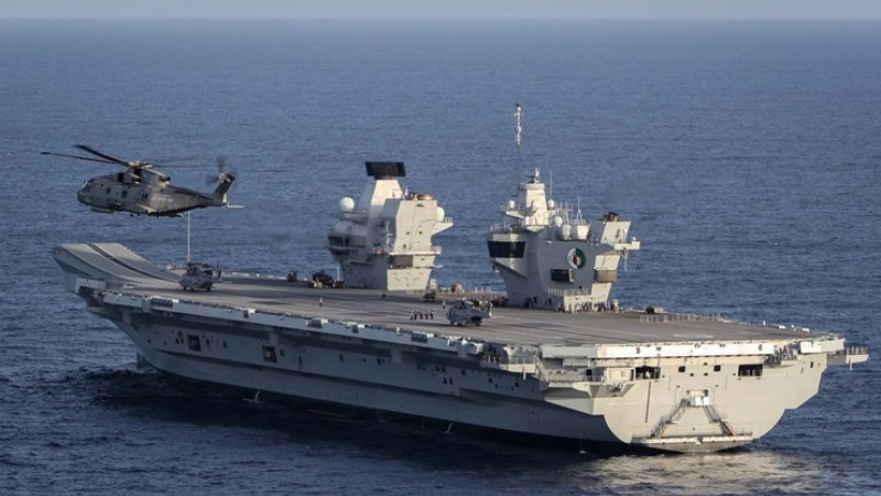Merlin on Hms Queen Elizabeth
