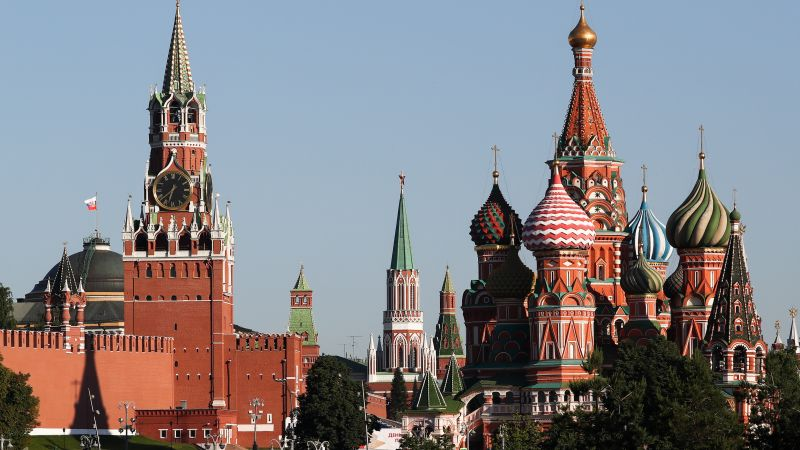 Moscow Kremlin's Spasskaya Tower (L), and St Basil's Cathedral 240620 CREDIT PA