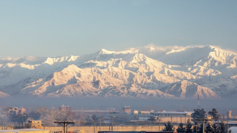 Mountains near Bagram Airfield in Afghanistan