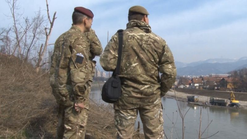Members of 77th Brigade on exercise in Bosnia