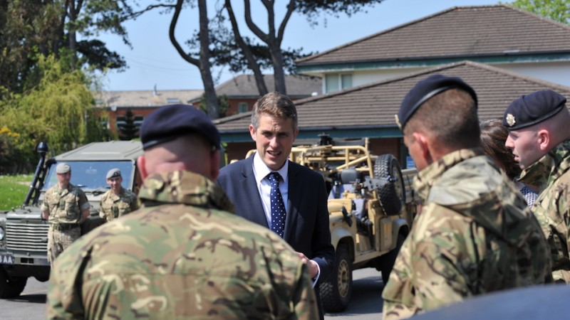 Gavin Williamson Defence Secretary Northern Ireland Reserves