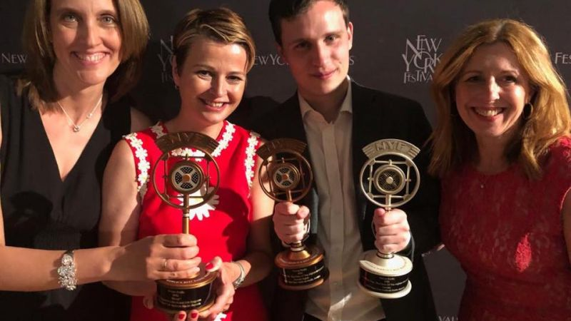 Josella Waldron, Mary Wilton, Kate Gerbeau, Will Warren 2019 NY radio awards