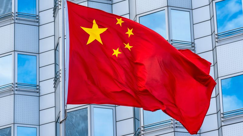 National flag of the People's Republic of China in front of the Chinese embassy in Berlin 240720 CREDIT Marc Vorwerk/SULUPRESS.DE/DPA/PA Images