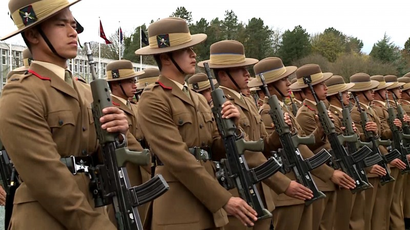 Gurkha Riflemen at passing out parade in Catterick