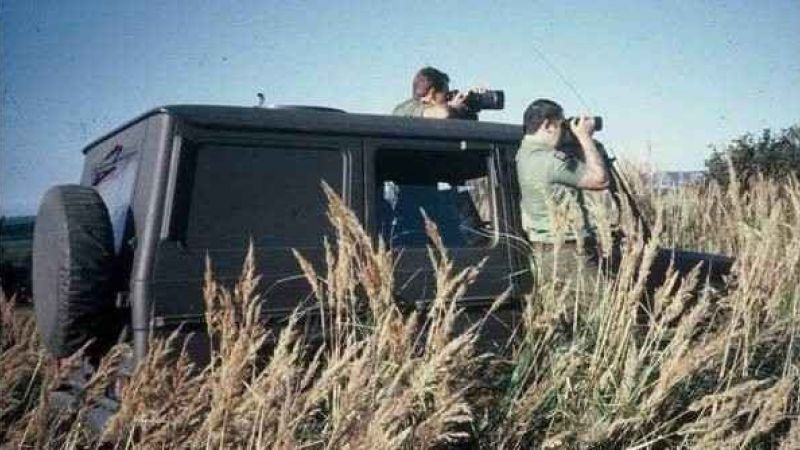 One of the 3 man BRIXMIS teams, seen hear spotting for Soviet Aircraft Credit BRIXMIS ASSOCIATION 041119