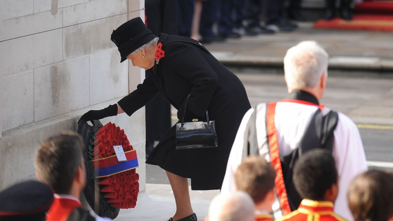 Queen Lays Wreath At Remembrance Sunday 2016