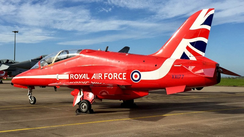 Everything You Need To Know About The Red Arrows Hawk Jet