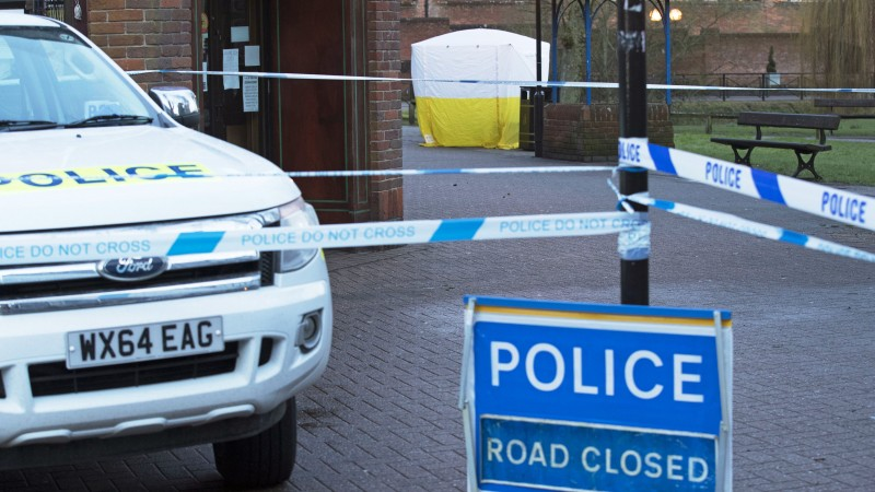 A pizza restaurant in Salisbury was closed by police late on Monday night as Sergei Skripal, 66, fought for his life in hospital a day after he was found unconscious in the Wiltshire city along with his 33-year-old daughter Yulia. [PA IMAGE]