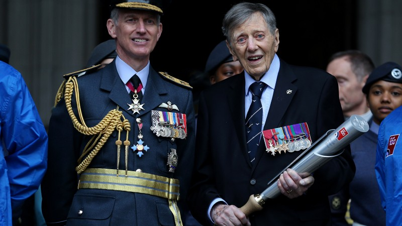 Air Commodore Charles Clarke (right) with Air Chief Marshal Sir Stephen Hillier in the RAF centenary year (Picture: PA).