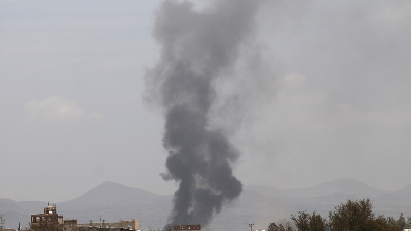 Saudi-led coalition warplanes Sanaa Yemen