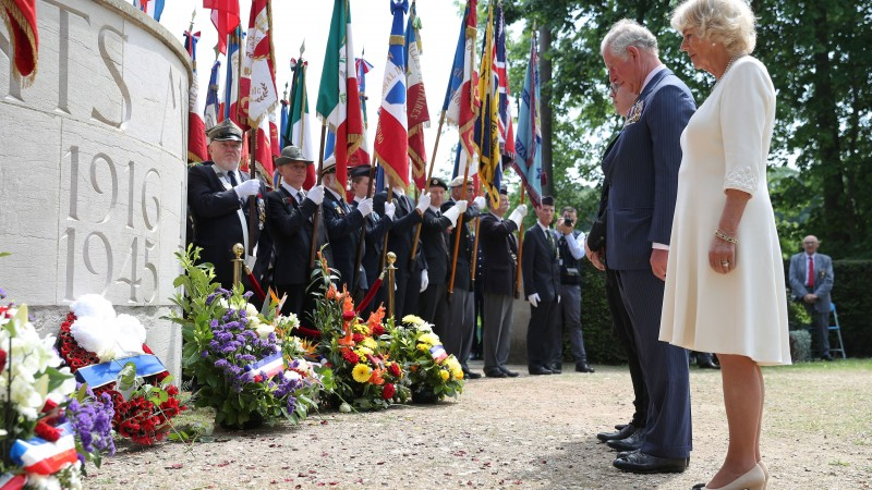 Prince Charles And Camilla Commemorate VE Day In France