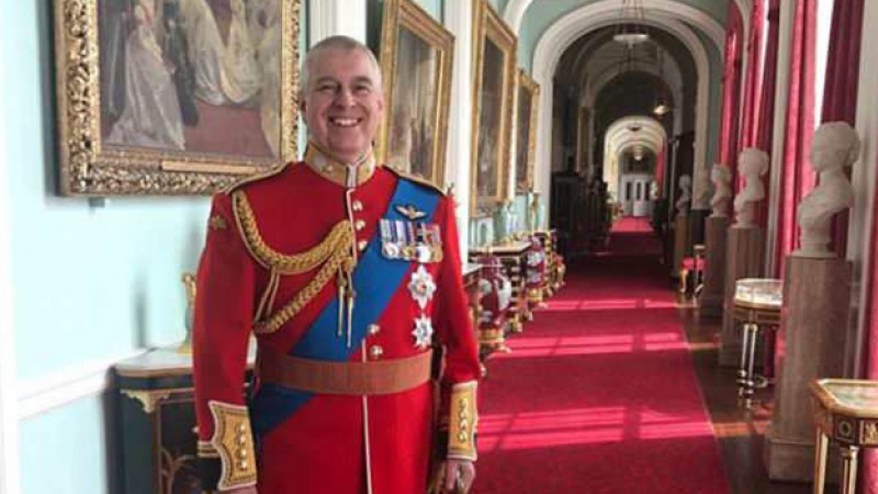 Prince Andrew before Trooping the Colour ceremony