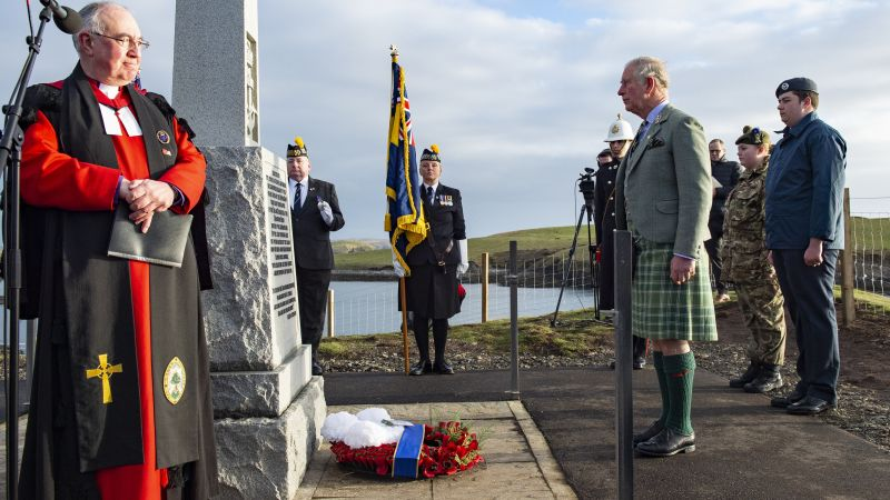 Prince Charles in Lewis 01012019 CREDIT PA (Use only in relation to the Iolaire).