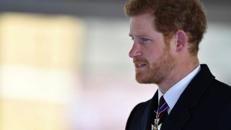 Prince Harry at drumhead service for memorial to Gulf, Iraq and Afghanistan veterans
