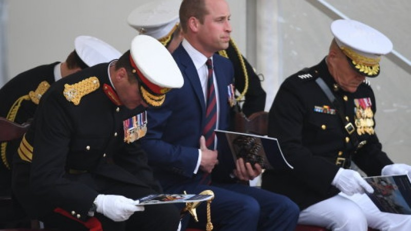 Prince William watches the ceremony of Beating Retreat (Picture PA).