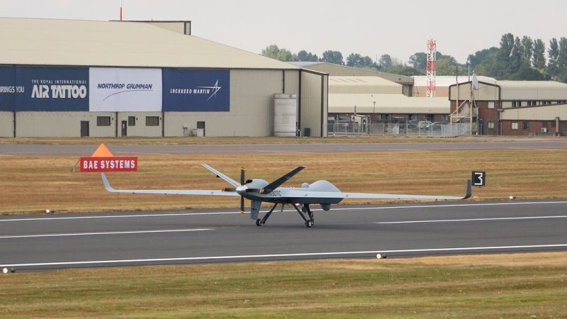 Protector Drone landing at RAF Fairford