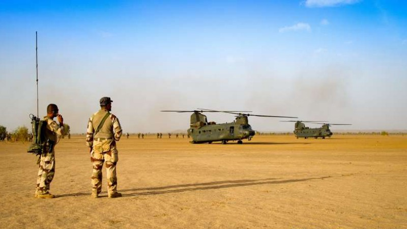 RAF Chinooks in Mali