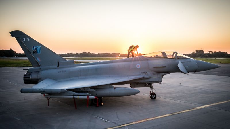 RAF Typhoon on NATO's Air Policing Mission in Estonia 020919 CREDIT MOD