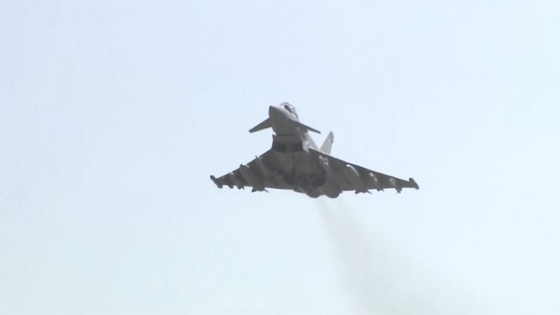RAF Typhoon taking off
