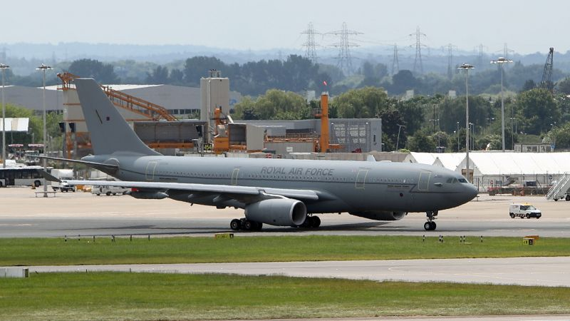 RAF Voyager aircraft typically used by the UK Prime Minister and members of the royal family 250717 CREDIT PA